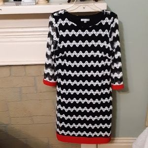 Sandra Darren Midi Dress Sz 12